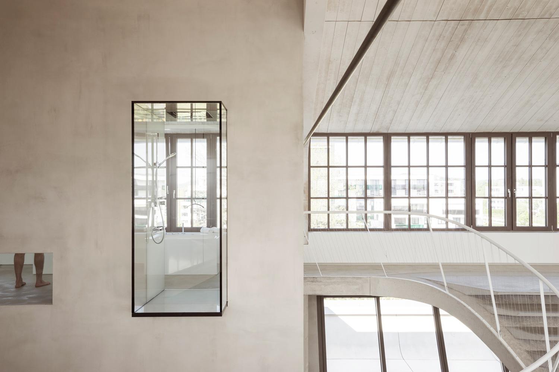 Loft Panzerhalle Smartvoll Architects Staircase Shower Design