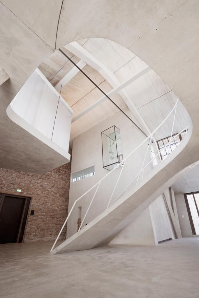 Loft Panzerhalle Smartvoll Architects Staircase Design