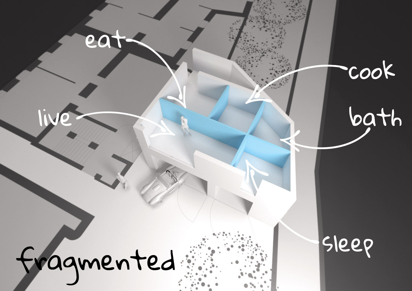 Fragmented Diagram