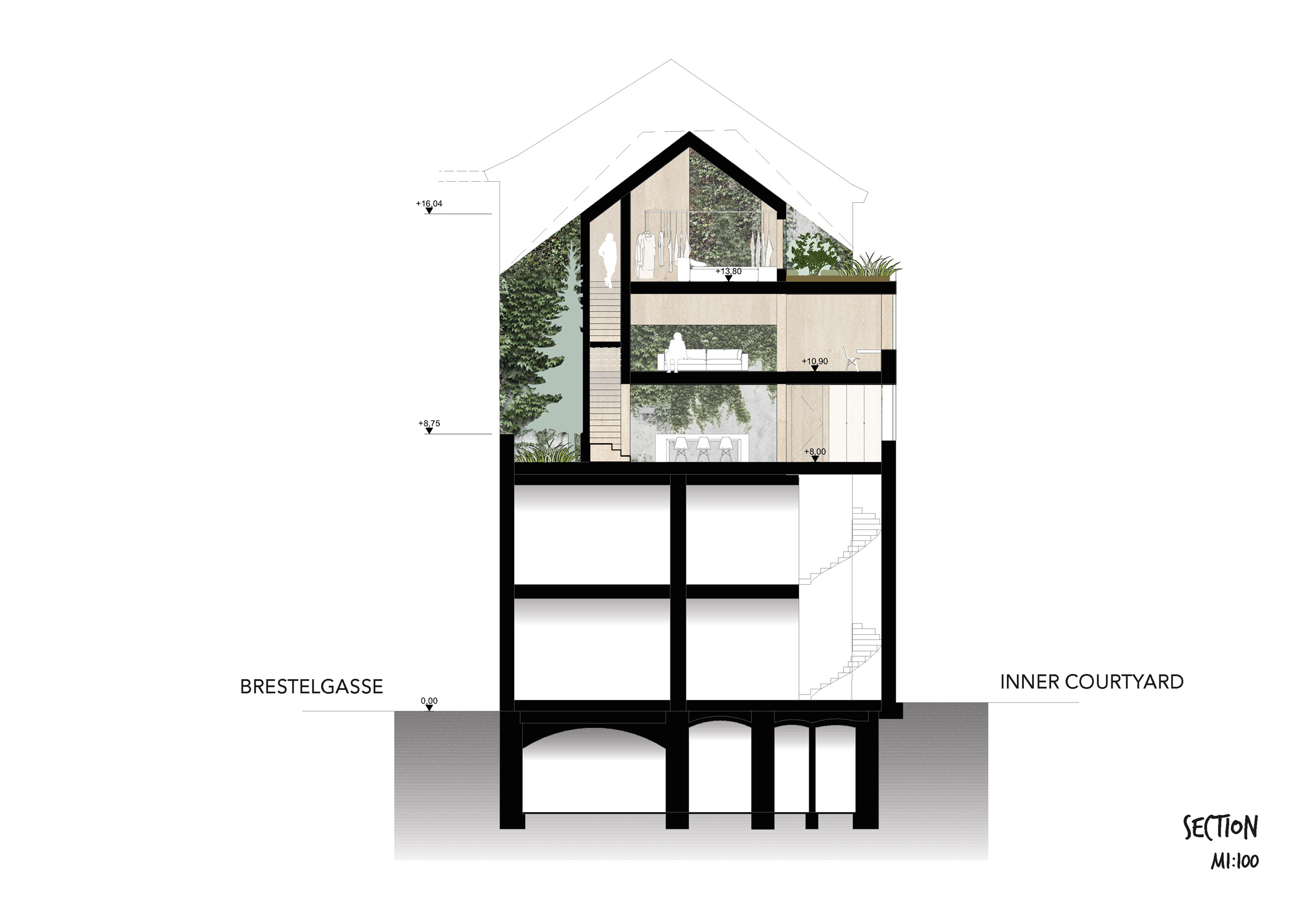 Urban Tree House Section